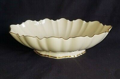 LENOX SYMPHONY Oval Scalloped Centerpiece Footed Bowl With 24 K GOLD ACCENTS