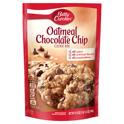 Betty Crocker Oatmeal Chocolate Chip Cookie Mix, 17.5 oz Pouch