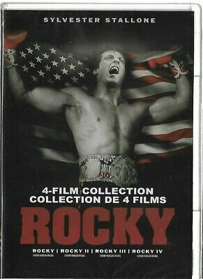 New Sealed - DVD - BRUCE WILLIS - ROCKY - 4 Film Colelction 1 2 3 4  Also French