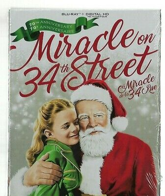 New Sealed - BLU-RAY DISC + Digital HD - MIRACLE ON 34TH STREET  Also In French