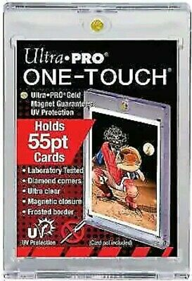1 ULTRA PRO One Touch Magnetic Holder 55pt UV Gold Magnet New 55 pt point