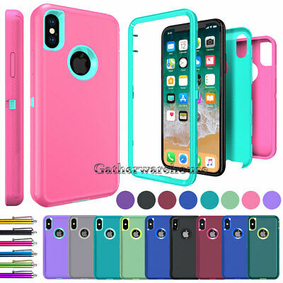 Case For iPhone 8 7 6s 6 Plus X Xr Xs Max 360° Full Body Shockproof Heavy Cover