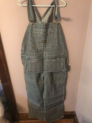 Vintage Deadstock Sanforized Washington Dee Cee Hickory Striped Bib Overalls