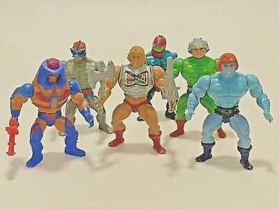 Vintage Masters of the Universe 82-88 Action Figure Stands MOTU - He-Man