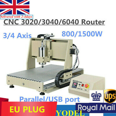 3/4 Axis 800/1500W Engraving Milling Machine CNC 3020/3040/6040 Router Engraver