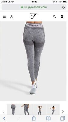 d6f2ae0c1b7e19 GYMSHARK FLEX LEGGINGS STEEL Blue Marl/Evening Navy Blue - £40.00 ...