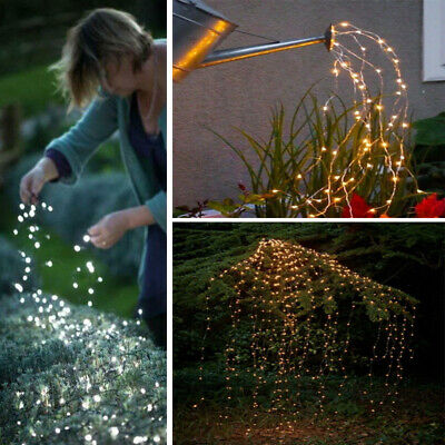 100/200 LED Waterfall String Fairy Lights Xmas Solar/Battery/UK Plug In Powered