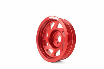 Perrin Performance Crank Pulley Red For EJ Engines For Subaru WRX/STI 93-19