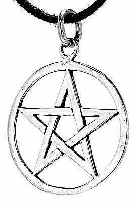 Pentagram 925 Silver Pendant Silver Chain Magic Guardian Amulet Pentakel No. 49