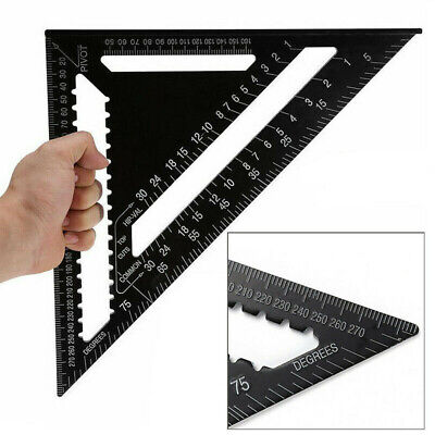 12inch Aluminium Alloy Roofing Rafter Speed Square Triangle Angle Guide Roof