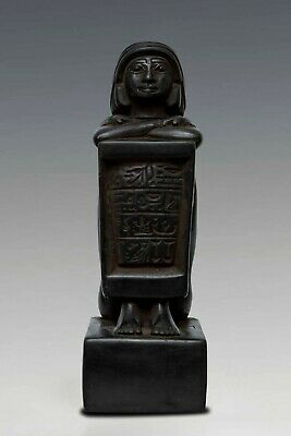 Rare ANCIENT EGYPT EGYPTIAN ANTIQUES Block Statue of Pe-Kher-Kons Stone 946 BC