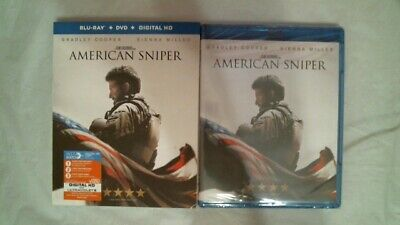 BLU-RAY/DVD/DIGITAL HD AMERICAN SNIPER Bradley Cooper  WIDE BRAND NEW
