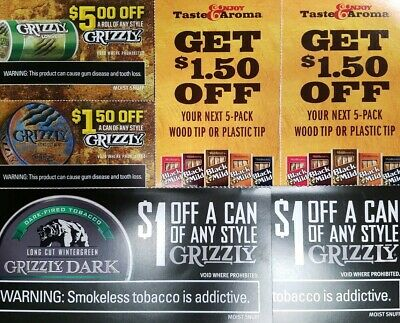 photograph regarding Printable Grizzly Tobacco Coupons named Tobacco Barn Coupon