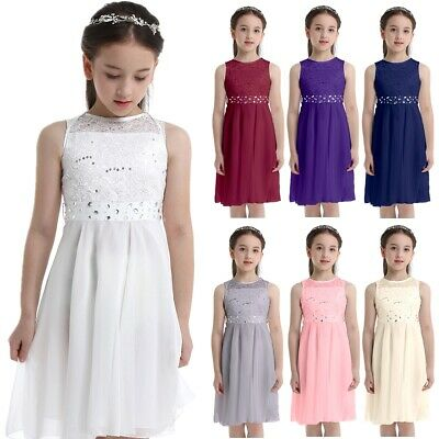 Girls Bridesmaid Dress Flower Kids Formal Party Wedding Princess Gown Dresses