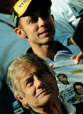 Giacomo AGOSTINI with Valentino ROSSI Autograph Signed 16x12 Photo AFTAL COA