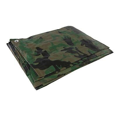 Camouflage Tarpaulin Heavy Duty Tarp Waterproof Basha Ground Sheet Camping Camo