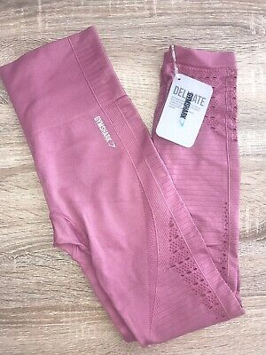 8104375414bee9 GYMSHARK. Energy High Waisted Leggings. Dusky Pink. Extra Small. BNWT.
