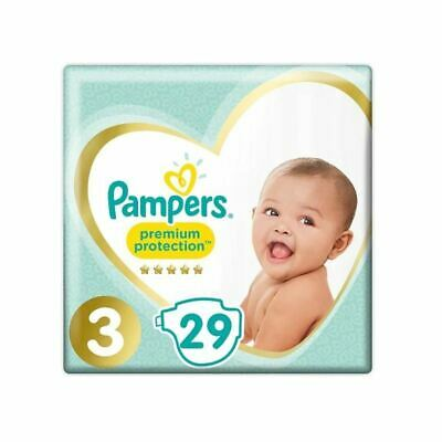 Pampers Premium Protection 29 Nappies - Size 3 (6-10 kg)