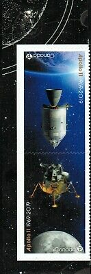 Canada sc#??? 50th anniversary of Apollo 11, Pair from Booklet, Mint-NH