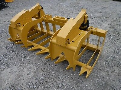 """CAT Skid Steer Attachment - 80"""" Heavy Duty Root Grapple Bucket - Ship $199"""