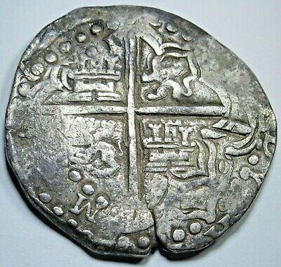 1600's Spanish Silver 8 Reales Eight Real Old Antique Dollar Treasure Cob Coin
