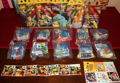 McDonalds Toy Story 4 Toys 2019 - Complete Set of 10 - Plus All 4 Happy Meal Box