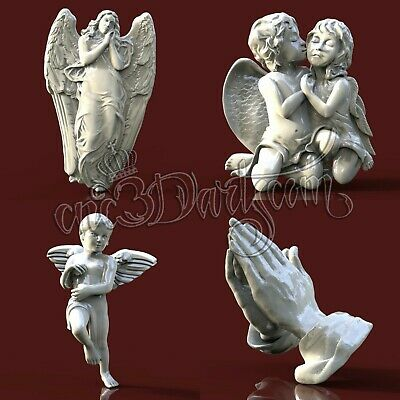 4 3D STL Models Religion Set for CNC Router Carving Machine Artcam aspire Cut3D