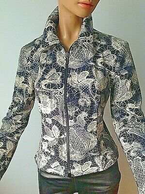 New Joseph Ribkoff Awesome Multicolored Full Zip Lined Jacket Sz-6
