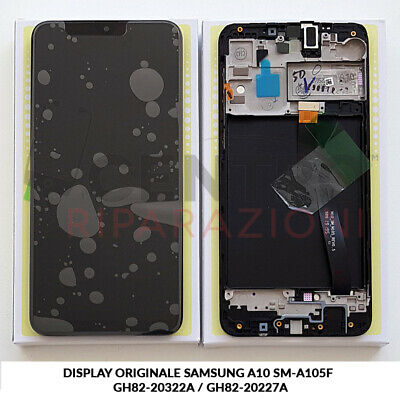 Display Lcd Touch Screen Originale Samsung Galaxy A10 2019 Sm-A105F Nero Black
