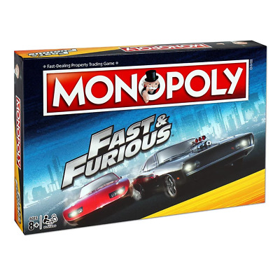 Monopoly Fast & Furious Edition Board Game NEW