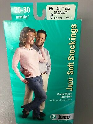 Juzo compression stockings thigh high closed toe 20-30 beige size 1