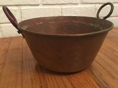 """Vintage Mexican 1960's 10 1/2"""" Hand Hammered Copper Cazo"""