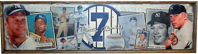 AWESOME Vintage Style Mickey Mantle Yankees  Baseball  Wooden Sign