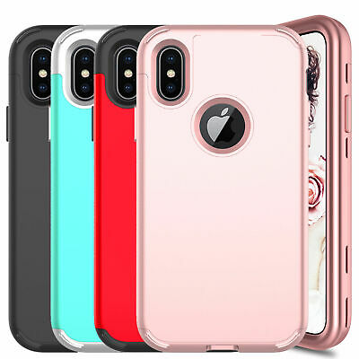 For iPhone XS Max/XS/XR Shockproof Hybrid TPU Slim Defend Armor Back Case Cover