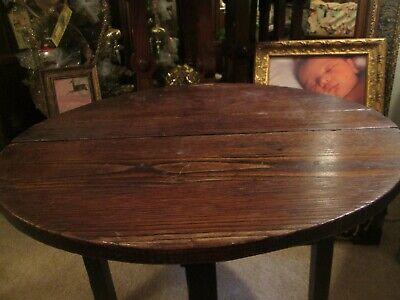 Antique, 1919,  Collectible OOAK Handmade Wooden Drop Leaf Child's Table