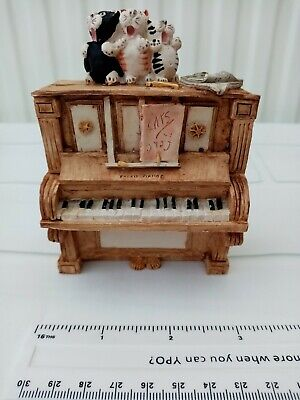 Colour Box Cat Piano Peter Fagan Home Sweet Home HS213 Collectable Ornament