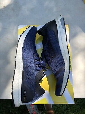 026565c1 Adidas Ultra Boost Uncaged Collegiate Navy Blue Black White Mens Size 12  BB4274