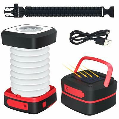 GlobaLink Lampe Camping Solaire Lanterne LED Rechargeable (Lampe Camping-rouge)