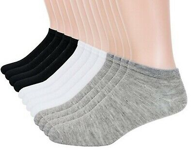 Pack of 3x 6x 12x Mens Womens Trainer Socks Extra Soft Cotton Ankle Sports Socks