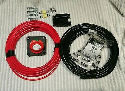 12v Split Charge Kit 2x 10m 10mm 70amp cable, 100amp Relay, Isolator, Fuses