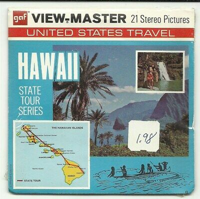 Viewmaster A 120 Hawaii State Map Packet G3-G4-G5