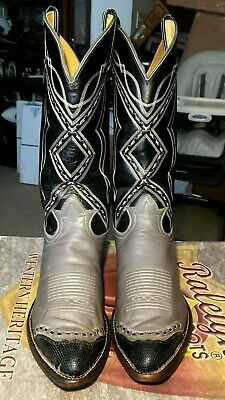 98d35790bf5 BOOTS TONY LAMA Men Cowboy All Leather Segar Black 1 Western #7900 ...