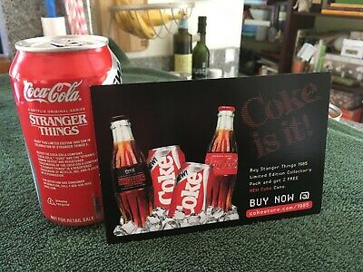 Stranger Things 3 - Limited Edition New Coke Coca-Cola Can w/Official Promo Card