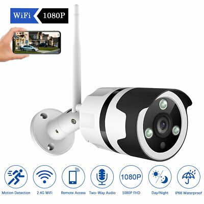 JOOAN 1080P Wireless WIFI IP Camera Onvif Outdoor Security Bullet Night Vision