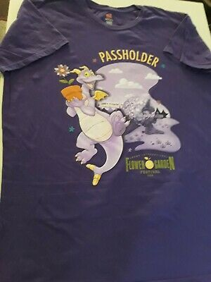 Disney Parks Disney World Epcot Passholder Flower And Garden XL Shirt Figment