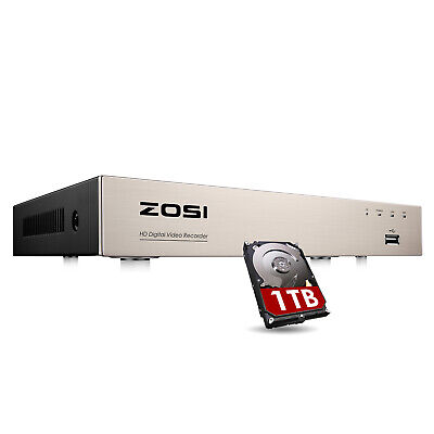 ZOSI 8 CH Channel H.265+ DVR 1080p HD with 1TB Hard Drive for Security Camera