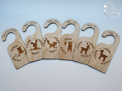Baby Clothes dividers, wooden baby closet wardrobe organisers Woodland animals