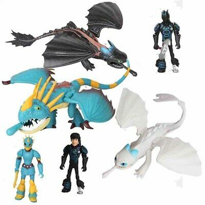 6 PCS How To Train Your Dragon 3 Light Fury Night Fury Action Figure Gift Toy US