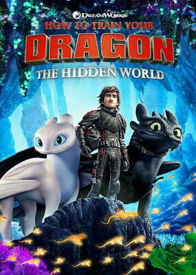 How To Train Your Dragon 3 The Hidden World Dvd Movie New Sealed 2019 Harington