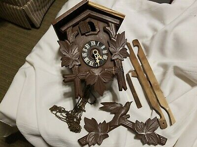 Vintage cuckoo clock, Made in Germany, parts or repair